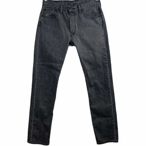 Levis Mens 32x34 501 Button Fly Jeans Straight